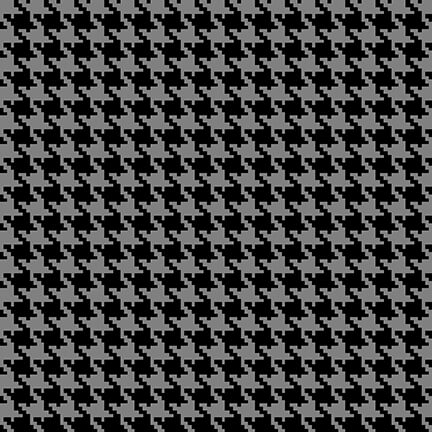 Studio E Midwinter Song Houndstooth - Black