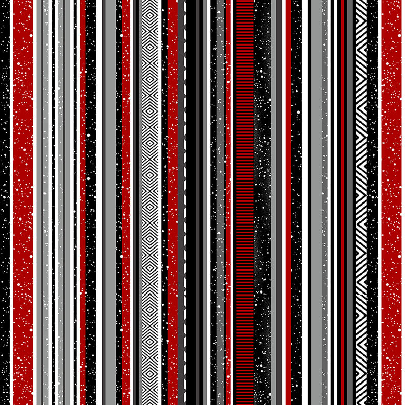 Midwinter Song Stripe Black/Red