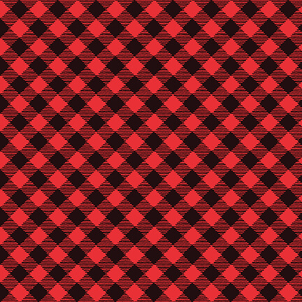 Snow Place Buffalo Plaid 5171-98 Red