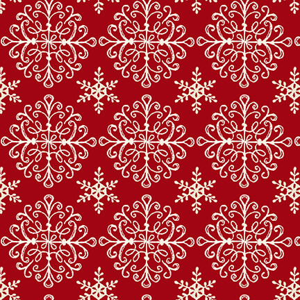 Home for the Holidays Set Snowflakes - Red