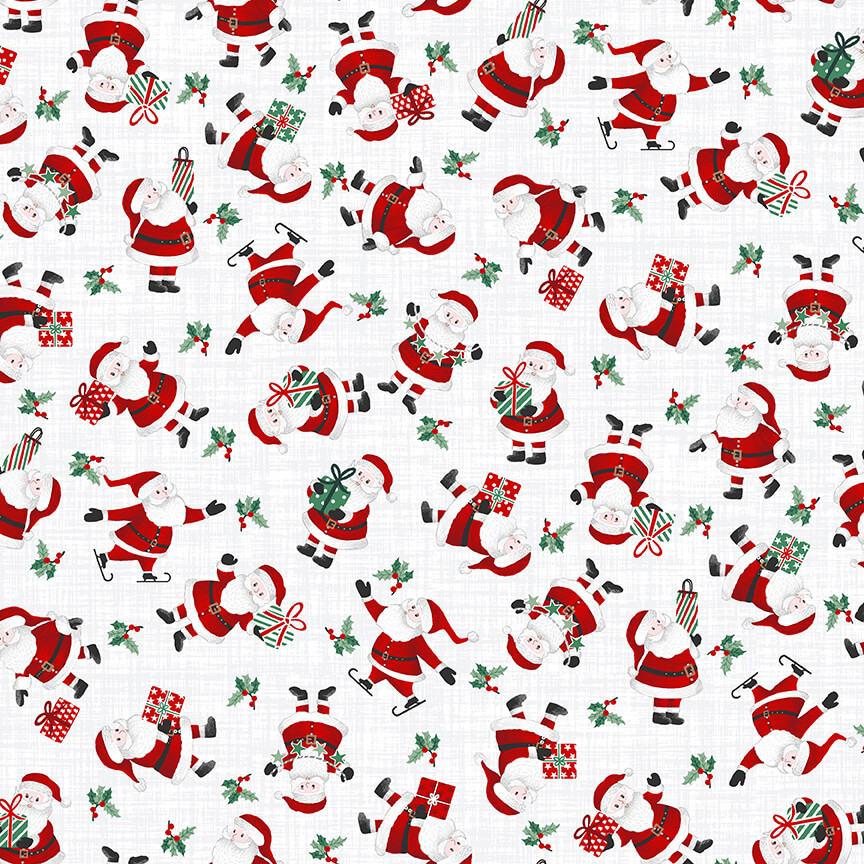Peace and Goodwill - Santas on White