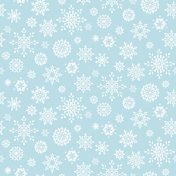 Peace and Goodwill - Snowflakes, Blue, 5210-11 - by Anna Cheng for Studio E Fabrics