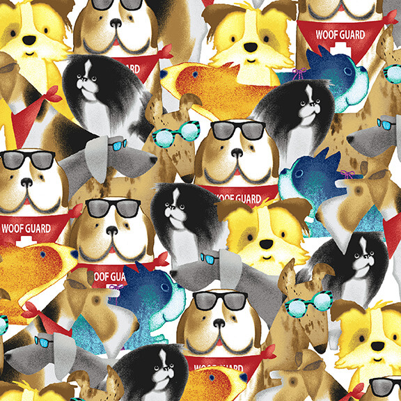 Packed Dogs:  Surfin' Hounds by Tracy Ann for Studio E
