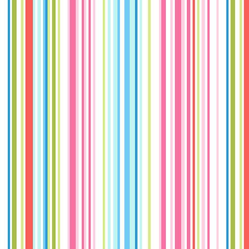 Stripe Multi colored Sew Kind by Charlotte Gould for Studio E Fabrics