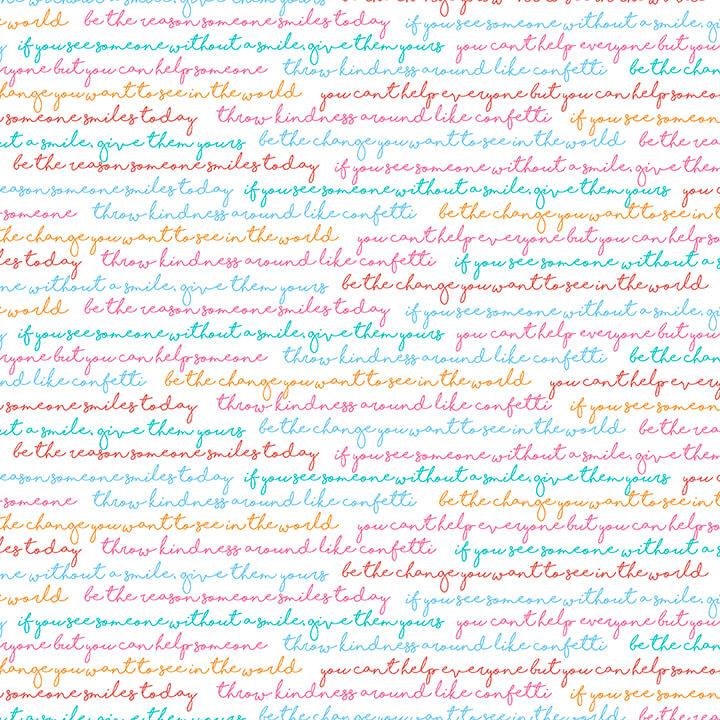 Sentiments multi colored Sew Kind by Charlotte Gould for Studio E Fabrics
