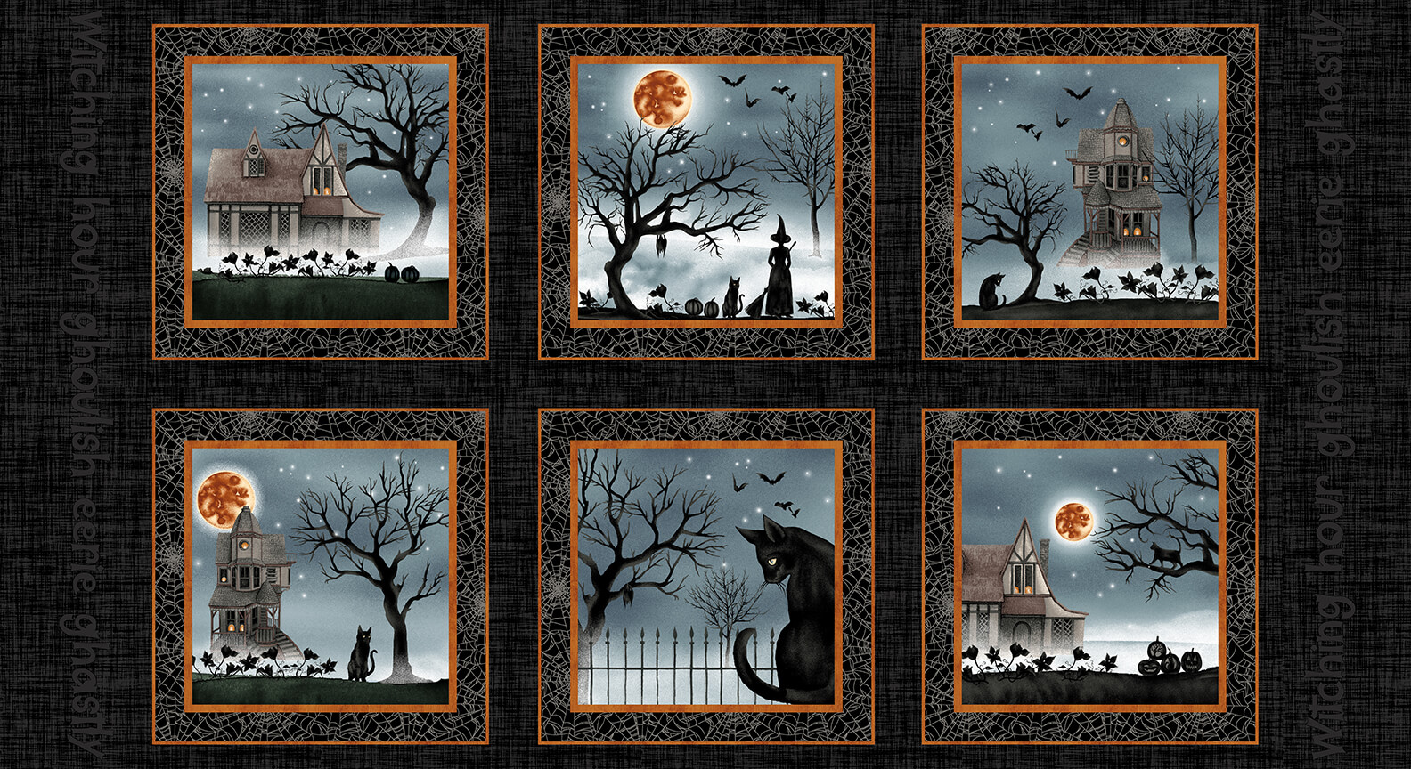 Harvest Moon Panel (24 - 10.5 Blocks)/Black: Harvest Moon (Grace Popp)