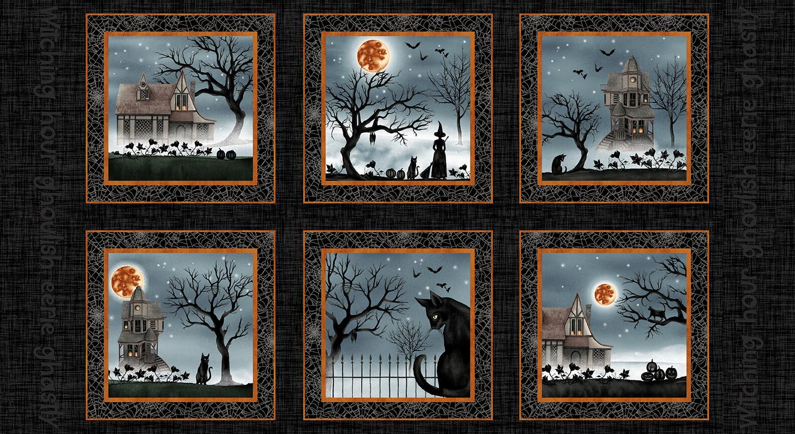 Harvest Moon 5241-99 Black Panel 2/3 yd