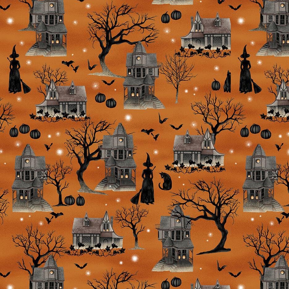 Harvest Moon Orange Spooky Scenic