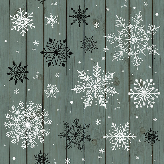 Christmas Memories Teal Snowflakes