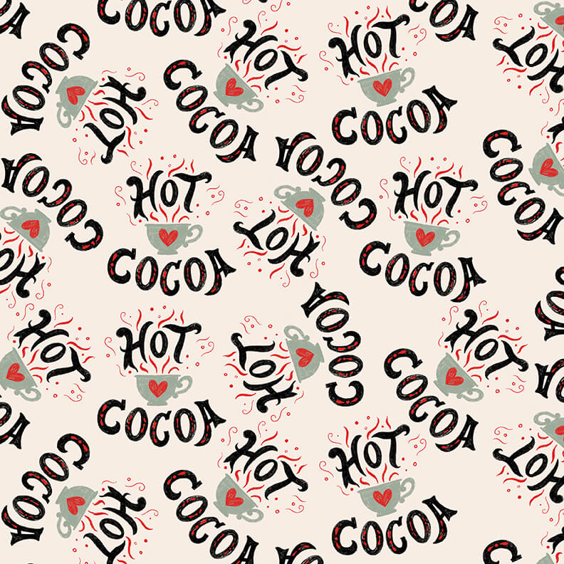 Studio e Christmas Memories Multi Hot CocoaCups & Words Tossed