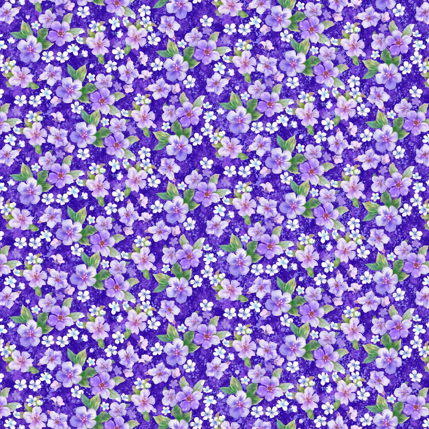Studio e Panda Sanctuary Large Floral Purple