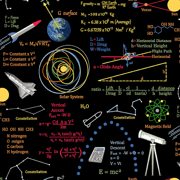 Planetary Missions Multi Graphics and Formulas