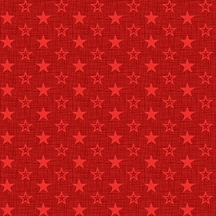 Red Stars for American Muscle by Studio E Fabrics