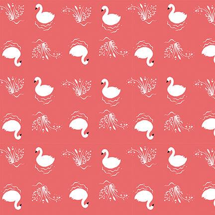 Bella Ballerina - Small Swans, Pink, 5363-22 - by Lucie Crovatto for Studio E Fabrics