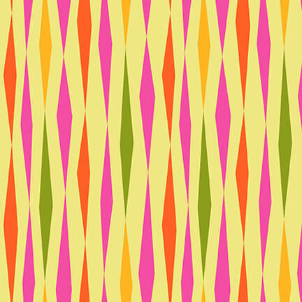 5378-42 All Lined Up - Diamond Stripe / Yellow