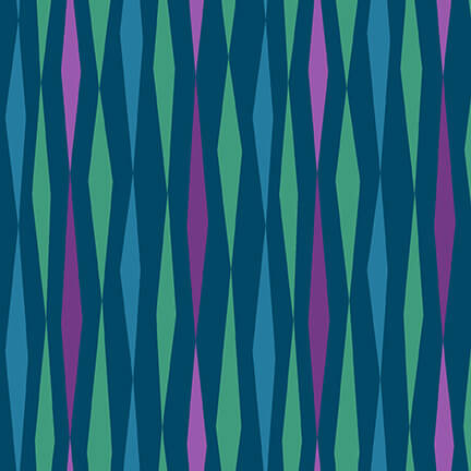 All Lined Up - Diamond Stripe- Digital 5378-67 Teal