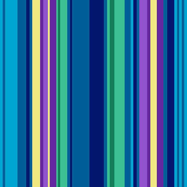 5379-76 All Lined Up - Wide Stripe / Blue & Green