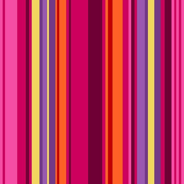 5379-85 All Lined Up - Wide Stripe / Red & Purple