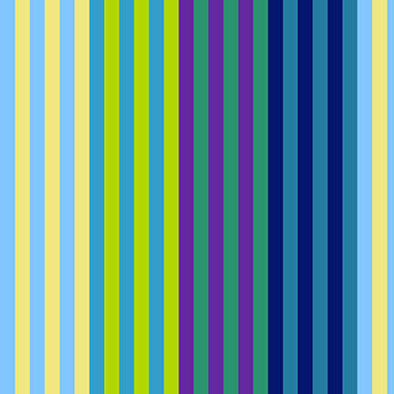 5380-76 All Lined Up - Narrow Stripe / Blue & Green