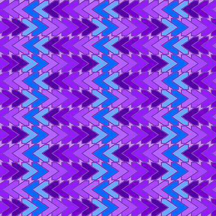 5381-78 All Lined Up - Chevron / Blue & Purple