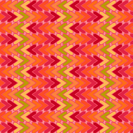 5381-83 All Lined Up - Chevron / Red & Orange