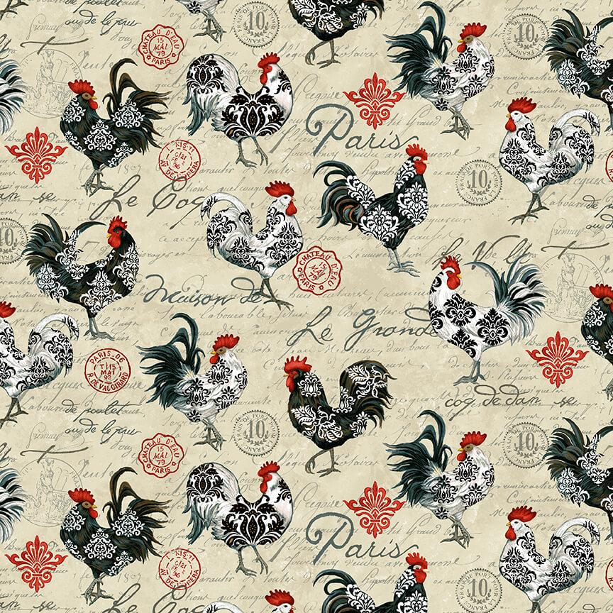 Studio E Le Poulet Rooster All Over Cream