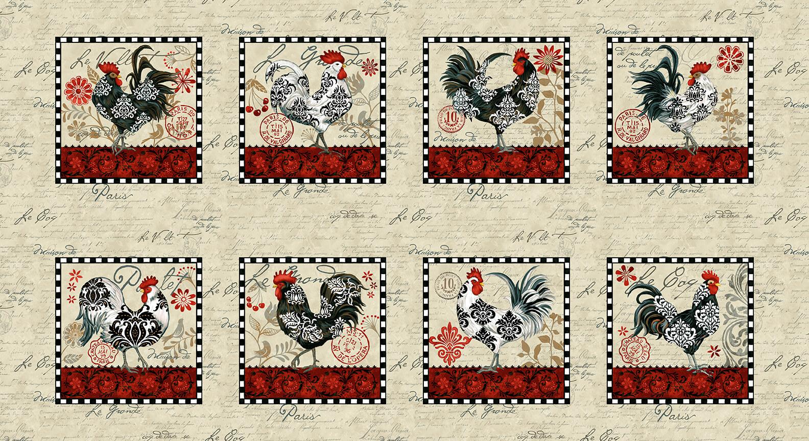 5463P-33 Cream / Le Poulet Panels