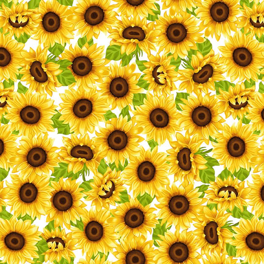Sunny Sunflowers 5574-46 Yellow