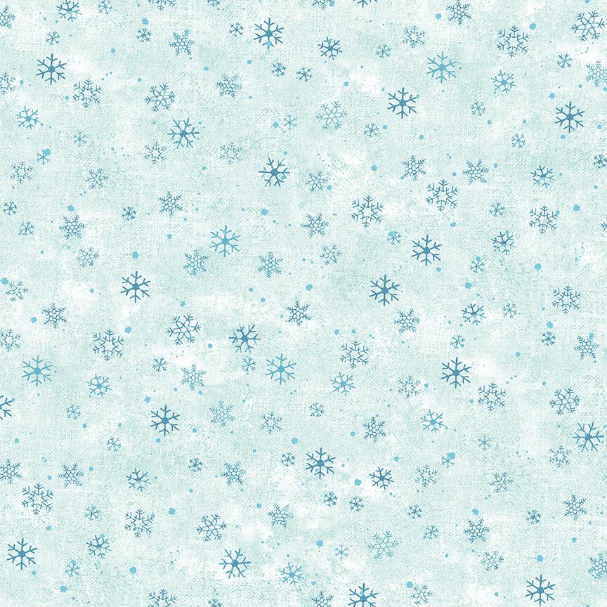 Mini Snowflakes Ice Blue