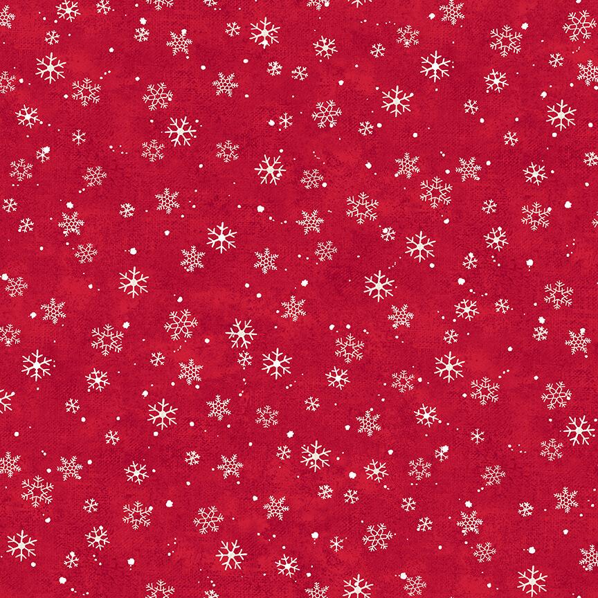 STUDIO- Winterwood Mini Snowflakes Red