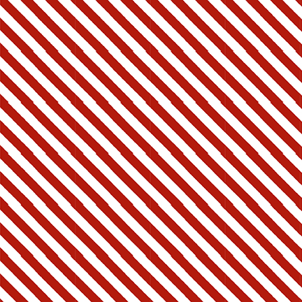 STUDIO- Kitten Christmas Candy Cane Red