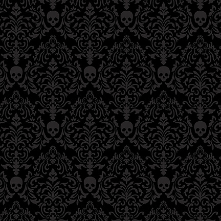 Spooky Nights Small Damask