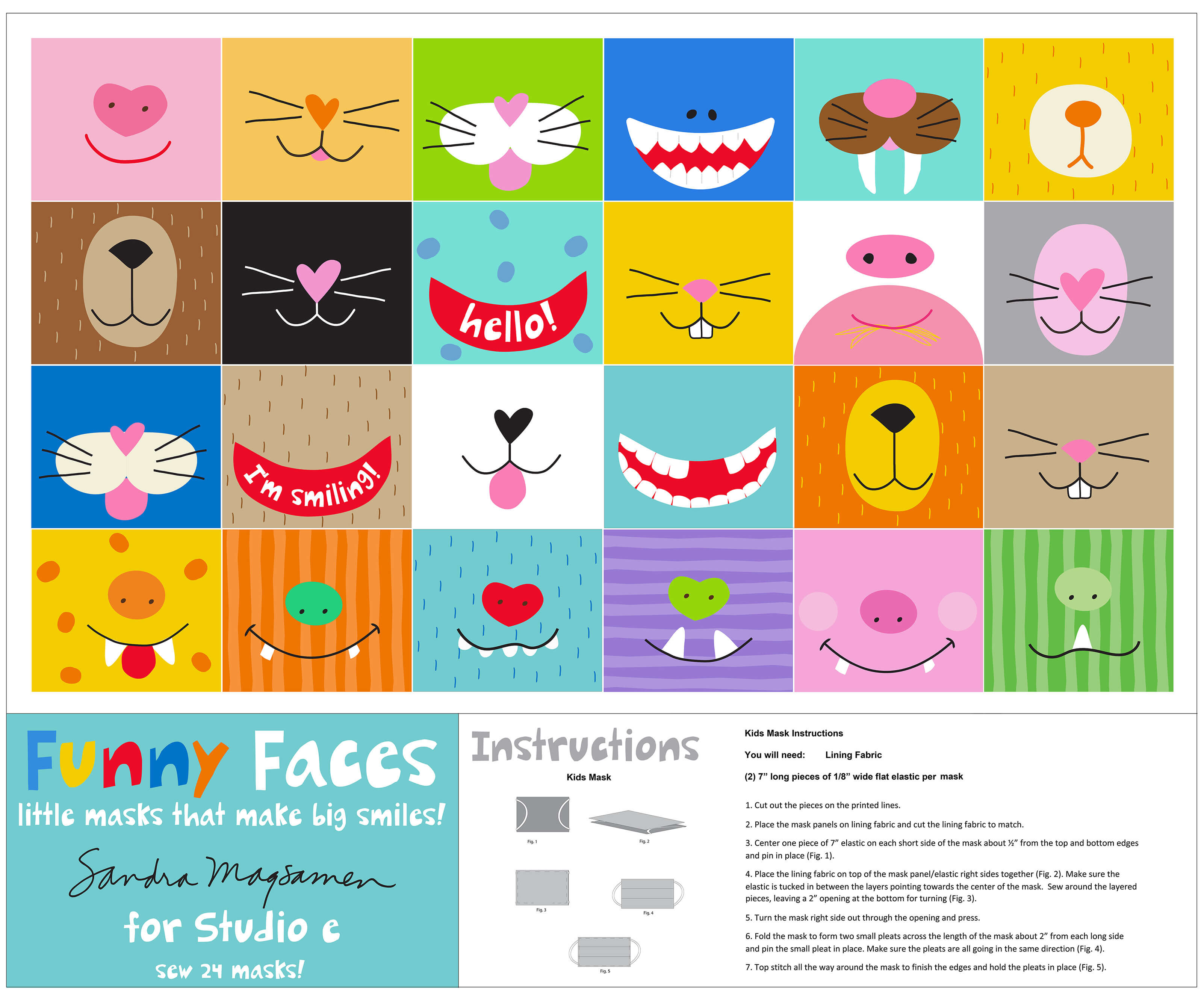 Funny Faces - Face Mask Panel - by Studio E