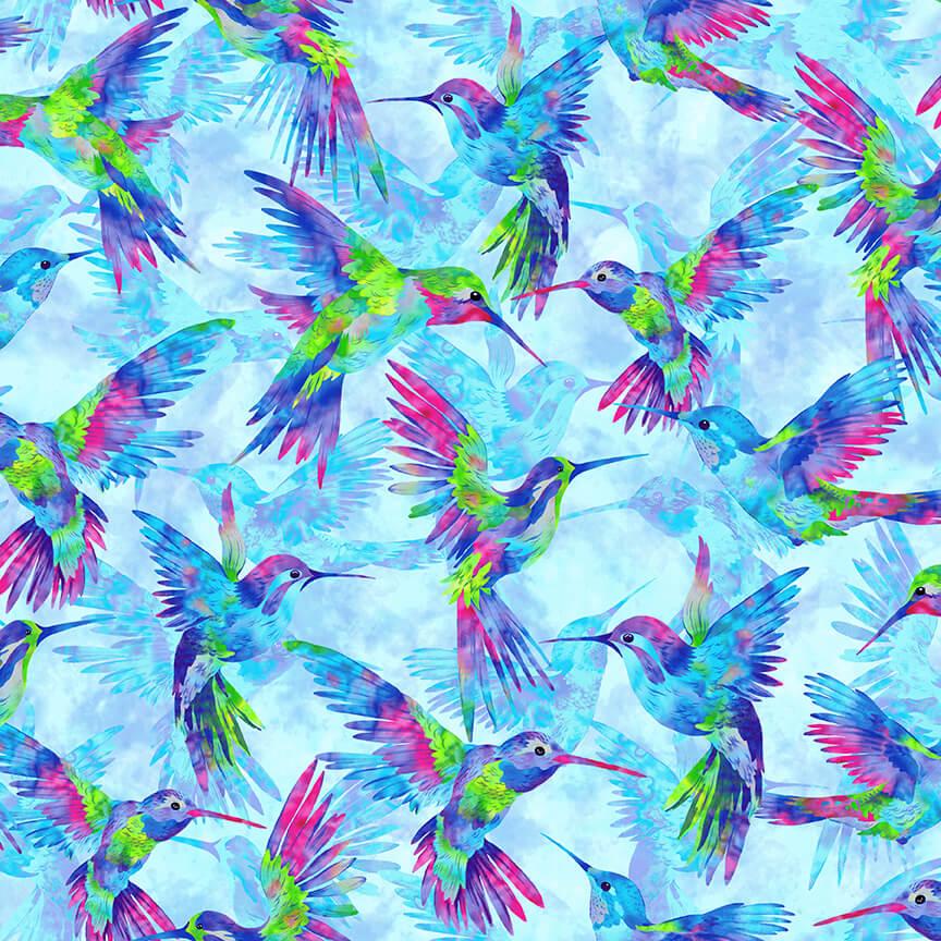 Hummingbird all Over - Humingbird Heaven by Studio E Fabrics