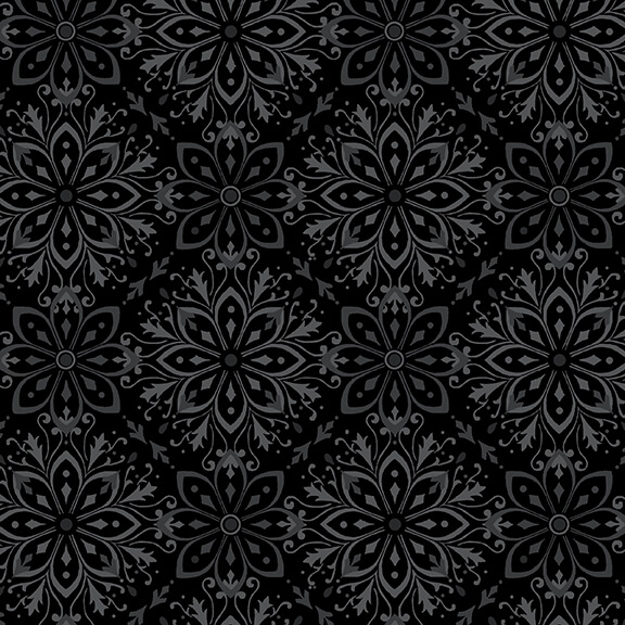 108 Tranquil Quiltbacks Flannel F5597-99 Black