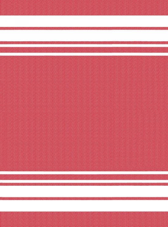 studio e Towel - Red w White Stripe End 20 x 27