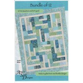 Amelie Scott Designs Bundle of 12 Pattern Fat Quarter Pattern