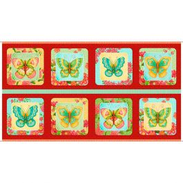 Quilting Treasures All A Flutter Multi 24 Panel
