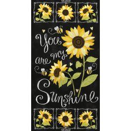 You Are My Sunshine, Black 24 Panel