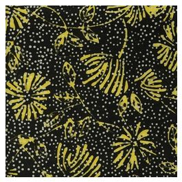 Floral Dots-Black Yellow
