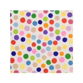 Alexander Henry Plie Dots White Multi