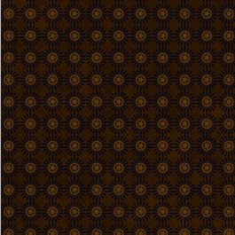 BUGGY BARN DOWN TO EARTH BROWN W/ BROWN STAR BURSTS HENRY GLASS & CO