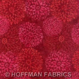 Chrysanthemums Red Velvet Bali Handpaints
