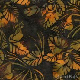 Island Batik Batik Dark Green Leaves