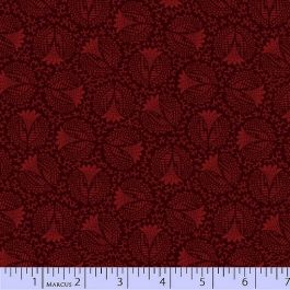 PRAIRIE GATHERING RED W/BLACK FLORAL PAM BUDA MARCUS FABRICS