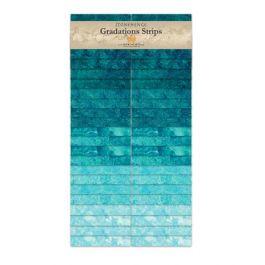 Northcott-Stonehenge-Gradations Brights Strips-Lagoon