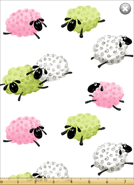 Lewe's Little Lamb on White