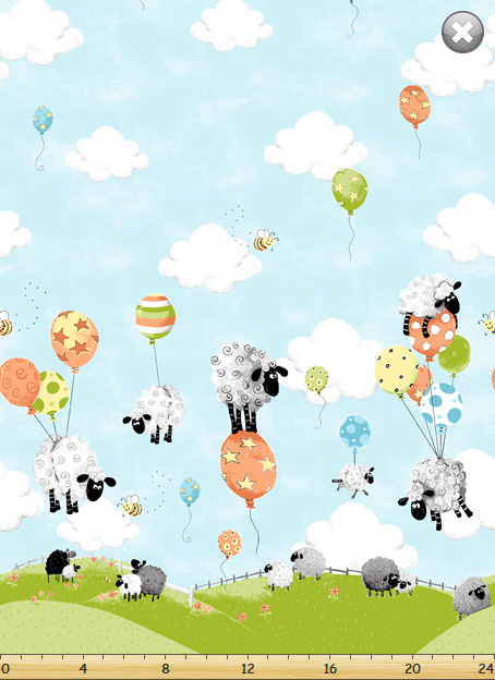 Lewe's Large Ewes on Balloons - Blue