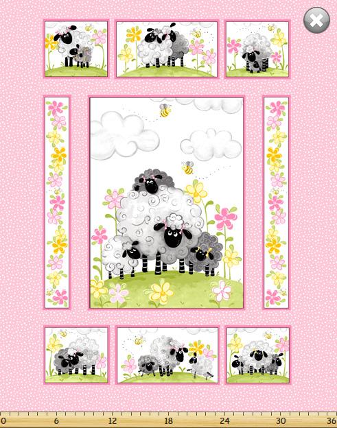 Lewe, Lal, the Lamb on Pink PANEL