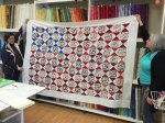 Pam created this beautiful quilt top for Quilts of Valor